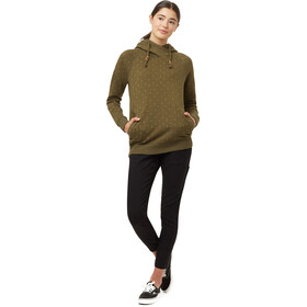 tentree Burney Hoodie Dame Olive Night Green/Little Tree AOP